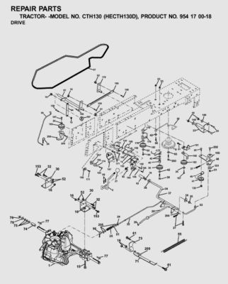 Wiring Diagram For Snapper Mowers additionally Wiring Diagram Tractor together with Husqvarna Hydro Transmission Drive Belt Kevlar Cth130 Cth135 Cth160 Cth171 Cth180 Cth191 Cth200 Cth210xp Pn 532170140 532 17 01 40 147 P additionally Craftsman Lawn Tractor Drive Belt Replacement Riding Mower Diagram in addition T12132456 Drive belt diagram 20hp v twin sabre. on craftsman lawn tractor wiring diagram
