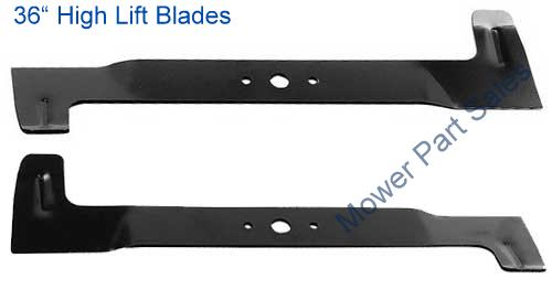 "36"" / 92cm High Lift Deck Blades Set Fits Honda HF2113, HF2114, HF2315 - 80395-Y09-003, 80394-Y09-003"