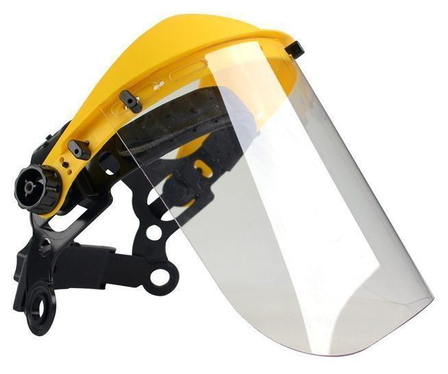 Clear Polycarbonate Safety Visor Shield Strimmers, Brushcutters