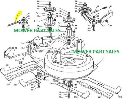 John Deere X320 Garden Tractor Spare Parts furthermore John Deere Ltr180 Garden Tractor Spare Parts furthermore 8qx43 John Deere D100 Lawn Tractor Not Push in addition Diagram Install Belt John Deere 54 Deck Mower 352015 besides Wiring Diagram For Lawn Mower Ignition The Wiring Diagram. on john deere lt133 mower deck parts diagram