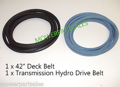 "Partner P155B107HRB & McCulloch Cutter and Hydro Transmission Drive Belt Set Fits 42"" Deck Models 532169178 & 532402009, 532170140"