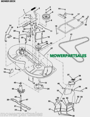 Wiring Diagram For John Deere 160 Lawn Tractor additionally John Deere 42 Snow Blower Tractor in addition Wiring Diagram John Deere Lt155 likewise Wiring Diagram For John Deere 310d Backhoe furthermore Exmark 48 Metro Parts Diagrams. on john deere 112 parts diagram